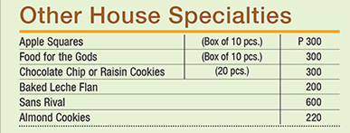House Specialties